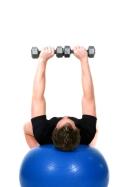 weight training on ball